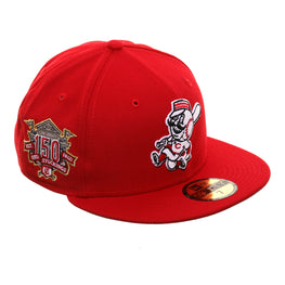huge discount a959c 8b00a Exclusive New Era 59Fifty Cincinnati Reds Mr. Red 150th Anniversary Patch  Hat - Red
