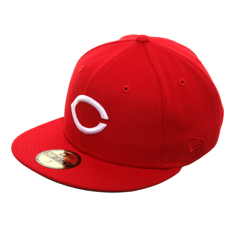 cf5a1709 Exclusive New Era 59Fifty Cincinnati Reds 150th Anniversary Patch Hat - Red