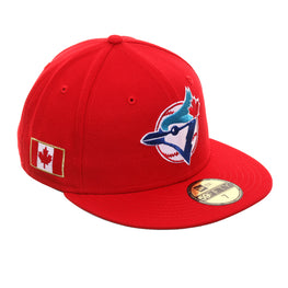 Exclusive New Era 59Fifty Toronto Blue Jays Canadian Flag 1993 Hat - Red