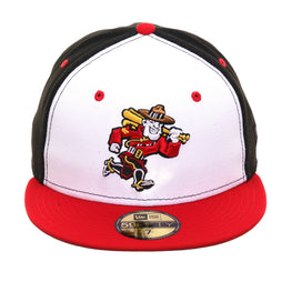 Exclusive New Era 59Fifty Vancouver Canadians Alternate Rail Hat - 2T White, Black, Red