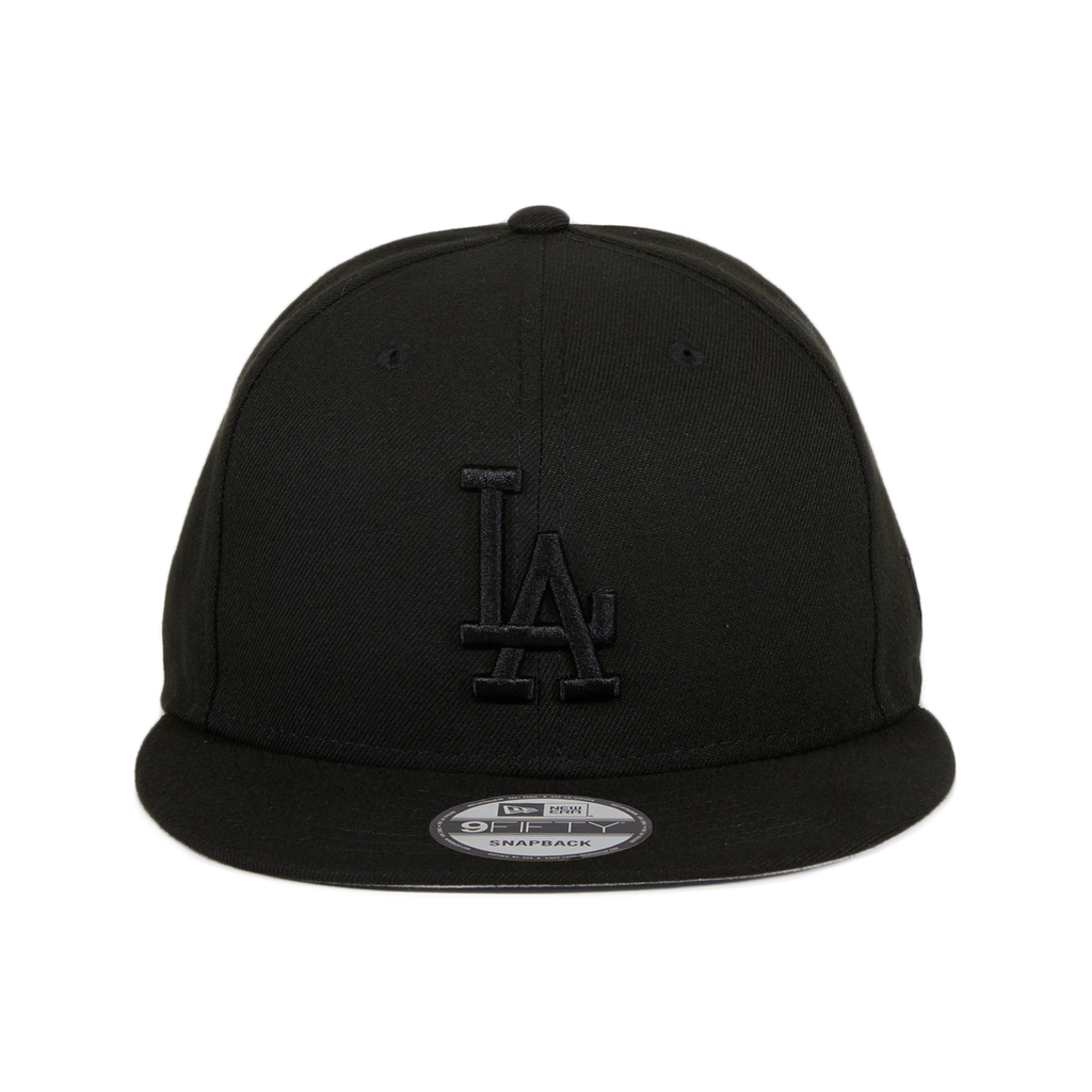 New Era 9Fifty MLB Basic Los Angeles Dodgers Snapback Hat - Black, Black