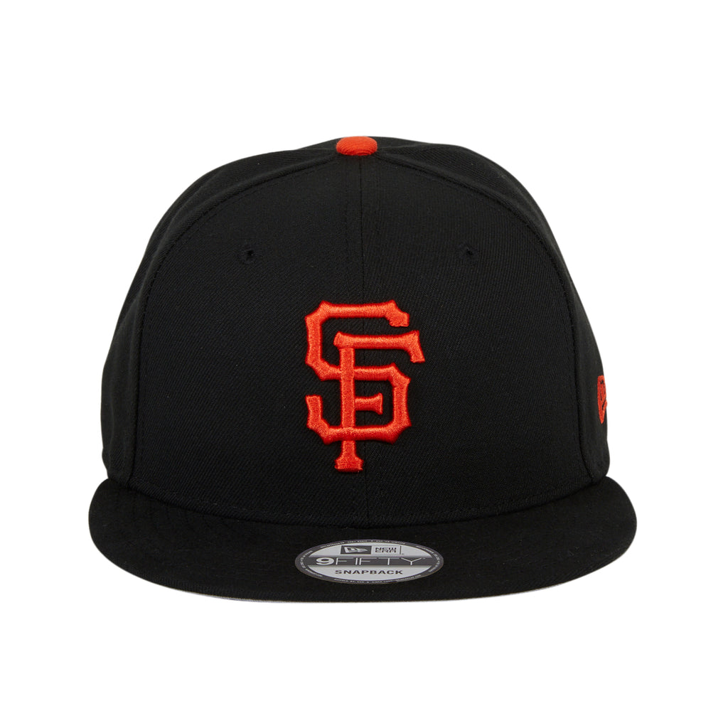New Era 9Fifty MLB Basic San Francisco Giants Game Snapback Hat - Black