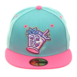 Exclusive New Era 59Fifty Louisville Mint Juleps Hat - 2T Mint, Pink