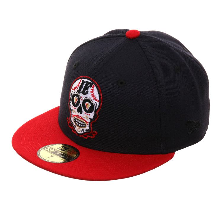 Exclusive New Era 59Fifty Inland Empire 66ers Skull Hat - 2T Navy, Red