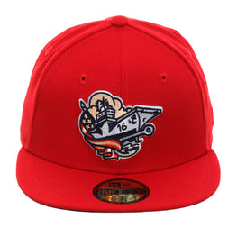 Exclusive New Era 59Fifty Corpus Christi Hooks Blue Ghosts Hat - Red
