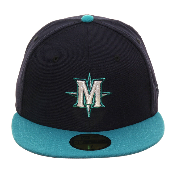 Exclusive New Era 59Fifty Seattle Mariners Alternate Hat - 2T Navy, Teal