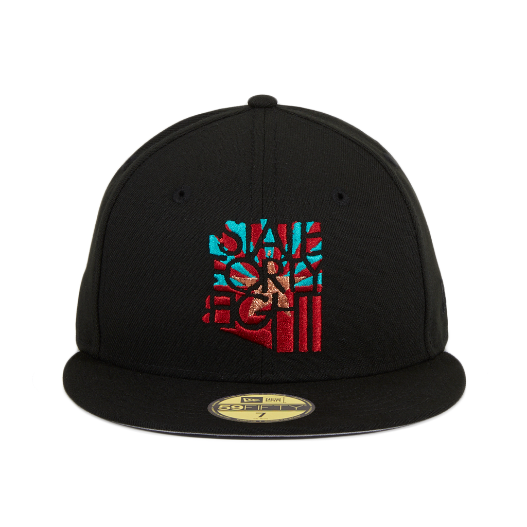 Exclusive New Era 59Fifty State Forty Eight Flag Hat - Black, Teal, Sedona Red