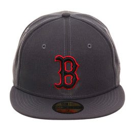 Exclusive New Era 59Fifty Boston Red Sox Hat - Graphite