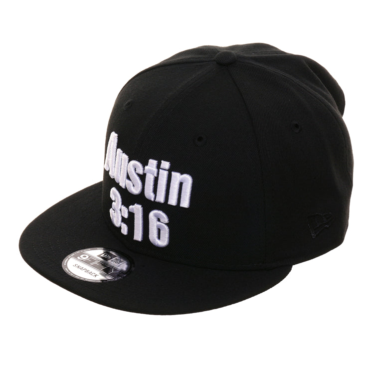 WWE New Era 9Fifty Austin 316 Snapback Hat - Black, White