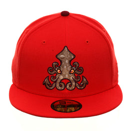 Dionic New Era 59Fifty Squid Hat - Infrared, Tan