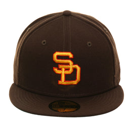 Exclusive New Era 59Fifty San Diego Padres 1980 Hat - Brown, Gold, Orange