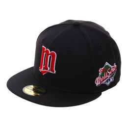 New Era 59Fifty Minnesota Twins 1991 World Series Patch Hat - Navy