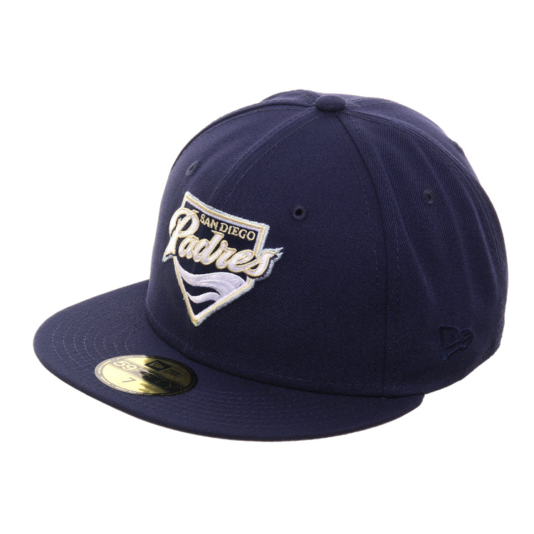 Exclusive New Era 59Fifty San Diego Padres 2004 Logo Hat - Light Navy