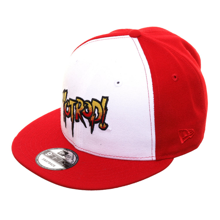 WWE New Era 9Fifty Hot Rod Roddy Piper Snapback Hat - White , Red