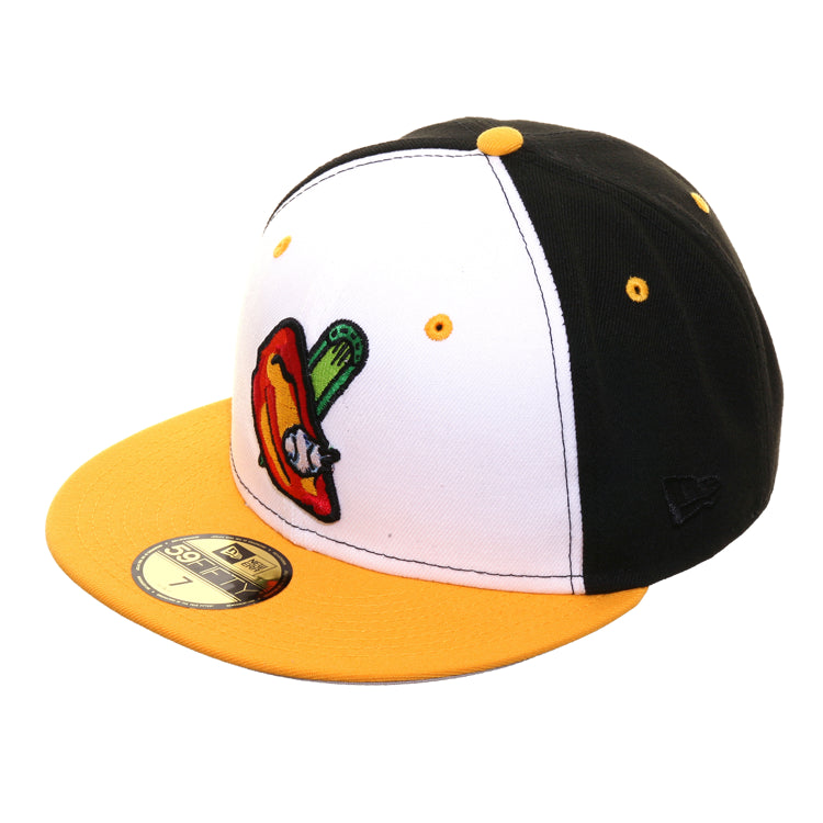 Exclusive New Era 59Fifty Buffalo Bisons Buffalo Wing Hat - White, Gold