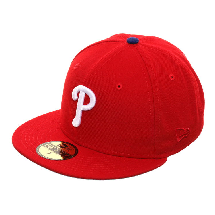 Exclusive New Era 59Fifty Philadelphia Phillies Roy Halladay Patch Game Hat - Red