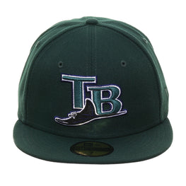 Exclusive New Era 59Fifty Tampa Bay Devil Rays 2005 Hat - Green