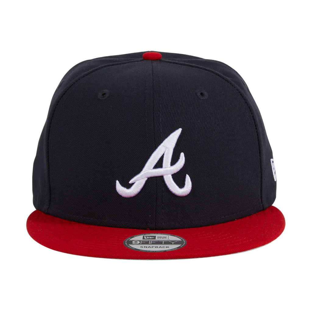 New Era 9Fifty Atlanta Braves Basic Game Snapback Hat - Navy, Red