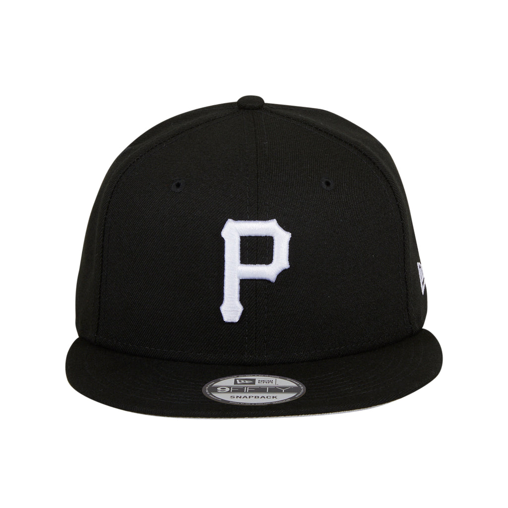 New Era 9Fifty MLB Basic Pittsburgh Pirates Snapback Hat - Black, White