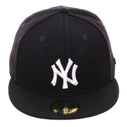 Exclusive New Era 59Fifty New York Yankees World Series Logos Liner Hat - Navy