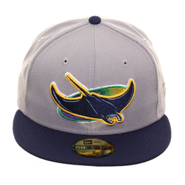 New Era 59Fifty Tampa Bay Rays Alternate Hat - 2T Gray, Light Navy