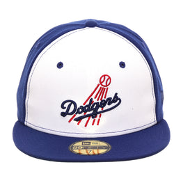 Exclusive New Era 59Fifty Los Angeles Dodgers 1958 Rail Hat - White, Royal