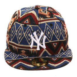 Exclusive New Era 59Fifty New York Yankees Native Linen Hat - Black