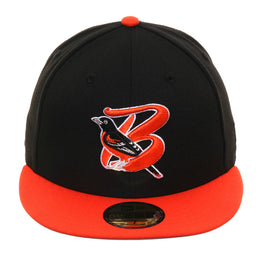 Exclusive New Era 59Fifty Bluefield Orioles Hat - 2T Black, Orange