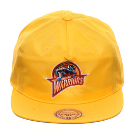 Mitchell & Ness Golden State Warriors Nylon Pop 1997 Snapback - Gold