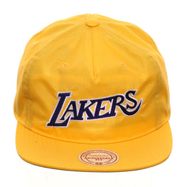 Mitchell & Ness Los Angeles Lakers Nylon Pop Jersey Snapback - Gold