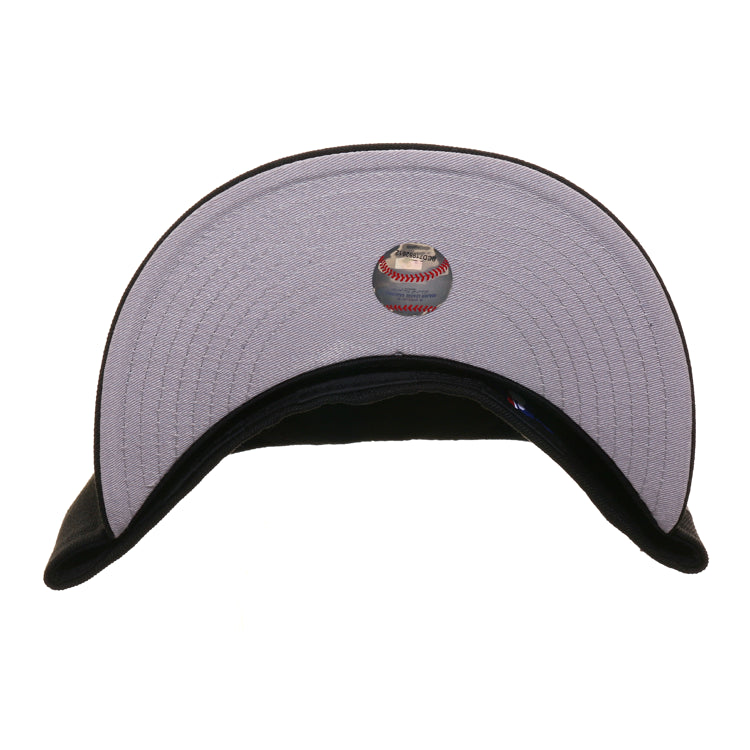 Exclusive New Era 59Fifty Atlanta Braves Peach Hat - Black