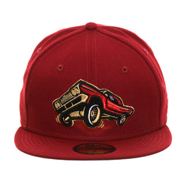 Exclusive New Era 59Fifty Fresno Lowriders Hat - Cardinal