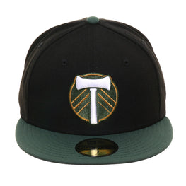 New Era 59Fifty Portland Timbers Hat - 2T Black, Green