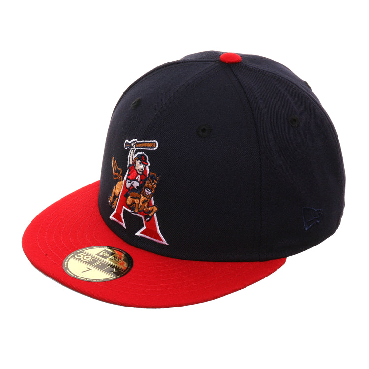 Exclusive New Era 59Fifty Arkansas Travelers 1996 Hat - 2T Navy, Red