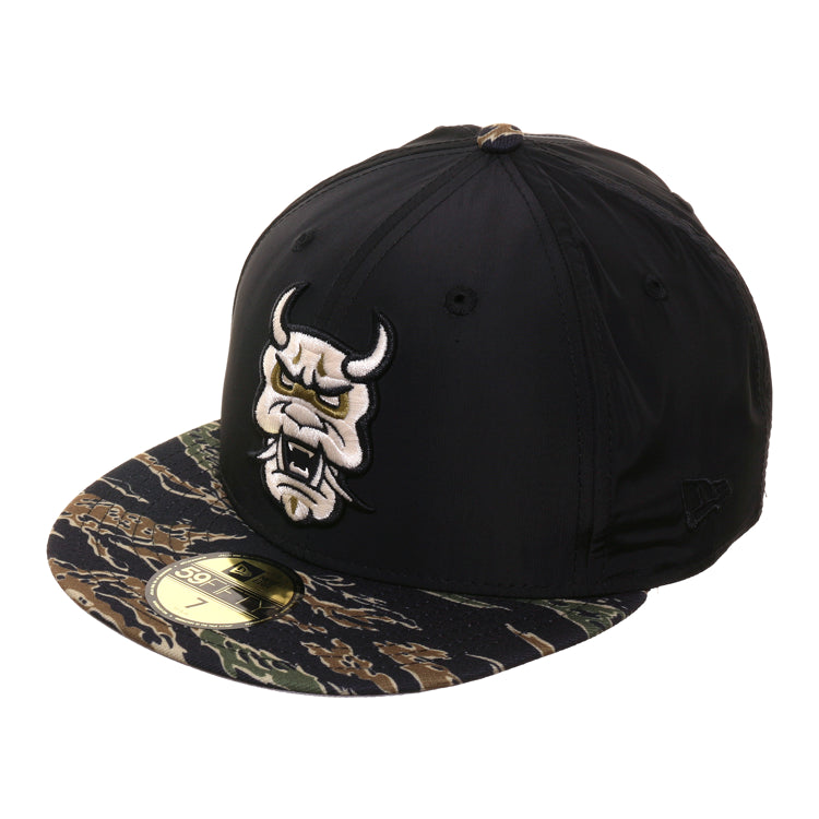 Dionic New Era 59Fifty Oni Mask Nylon Hat - 2T Black, Tiger Camouflage