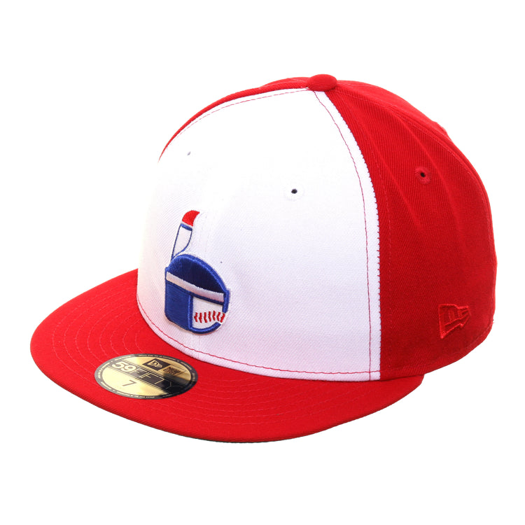 Exclusive New Era 59Fifty Indianapolis Indians 1970 Rail Hat - White, Red