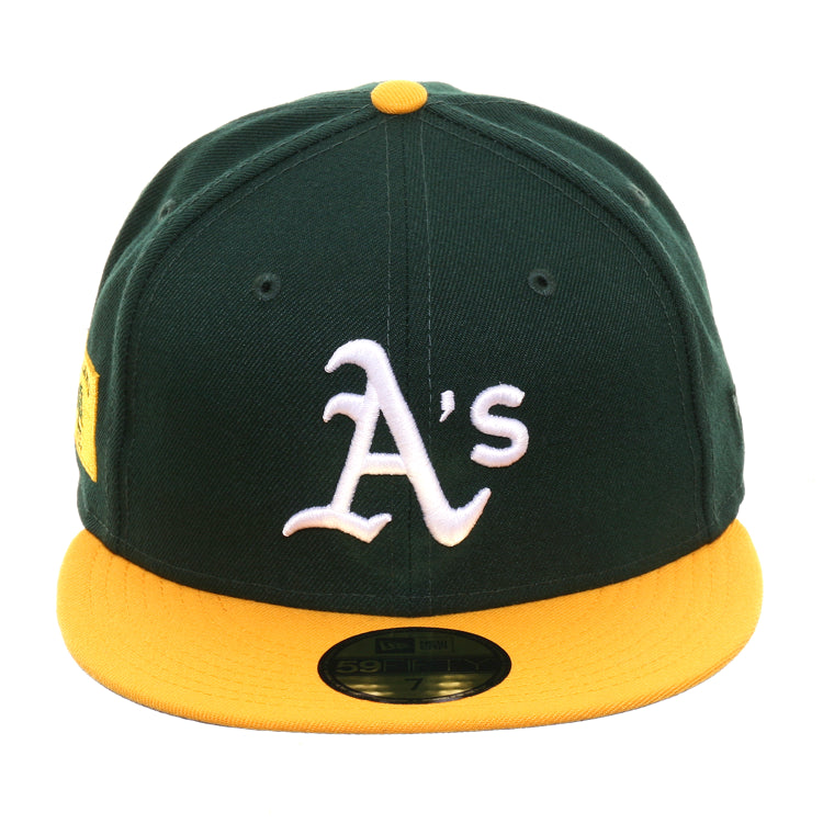 Exclusive New Era 59Fifty Oakland Athletics Flag Hat - 2T Green, Gold