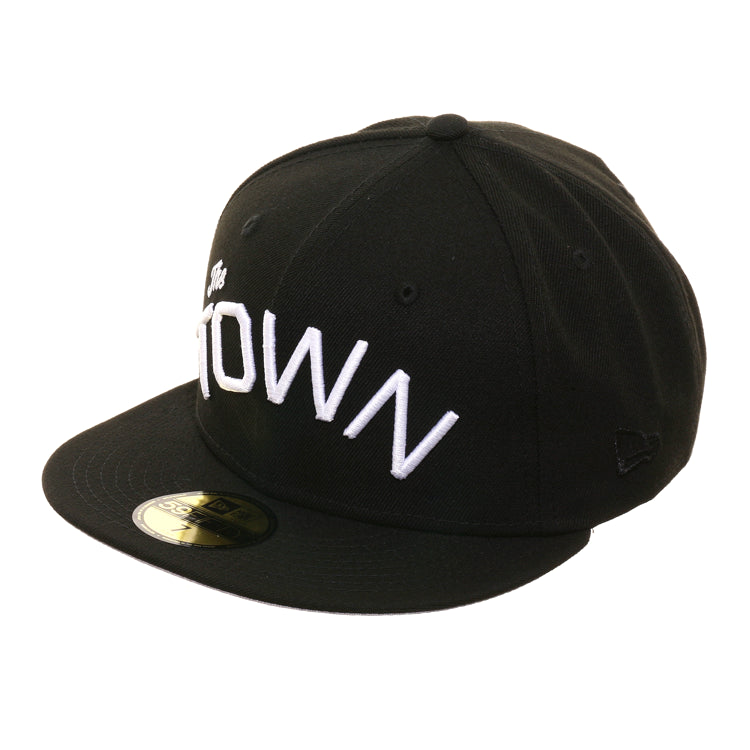 Exclusive New Era 59Fifty The Town Oakland Flag Hat - Black, White