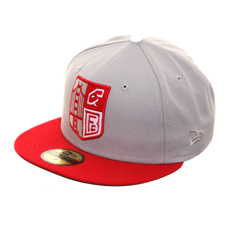 Exclusive New Era 59Fifty Thrill SF Balboa Rams Hat - 2T Gray, Red