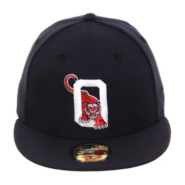 Exclusive New Era 59Fifty Oneonta Tigers Hat - Navy