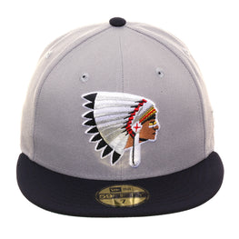 Exclusive New Era 59Fifty Spokane Indians 1970 Hat - 2T Gray , Navy
