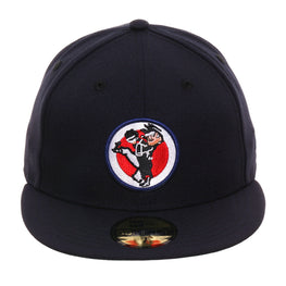 Exclusive New Era 59Fifty Washington Senators Patch Hat - Navy