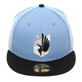 New Era 59Fifty Minnesota United Football Club Hat - 2T Light Blue, Black