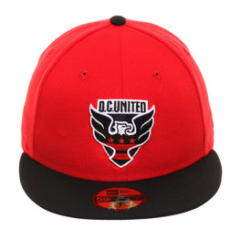 New Era 59Fifty D.C United Hat - 2T Red, Black