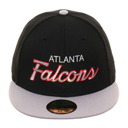 Exclusive New Era 59Fifty Atlanta Falcons Script Hat - 2T Black, Gray