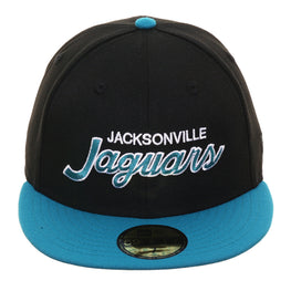 Exclusive New Era 59Fifty Jacksonville Jaguars Script Hat - 2T Black, Teal