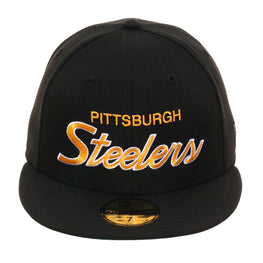 Exclusive New Era 59Fifty Pittsburgh Steelers Hat - Black