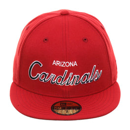 Exclusive New Era 59Fifty Arizona Cardinals Script Hat - Cardinal