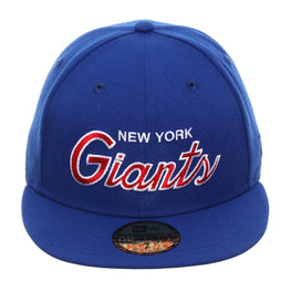 Exclusive New Era 59Fifty New York Giants Script Hat - Royal