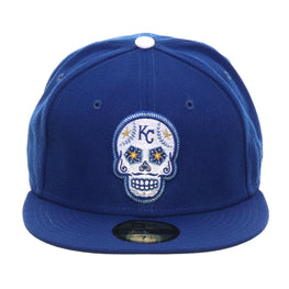 Exclusive New Era 59Fifty Kansas City Royals Sugar Skull Hat - Royal